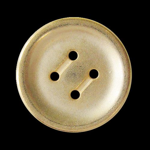 www.Knopfparadies.de - 5757go - Günstige Metallknöpfe mit vier Löchern - B-WARE