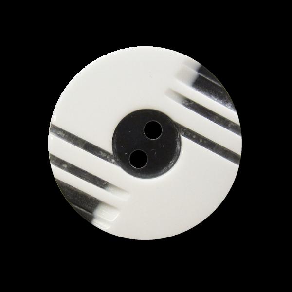 Moderner schwarz weißer Zweiloch Kunststoff Knopf