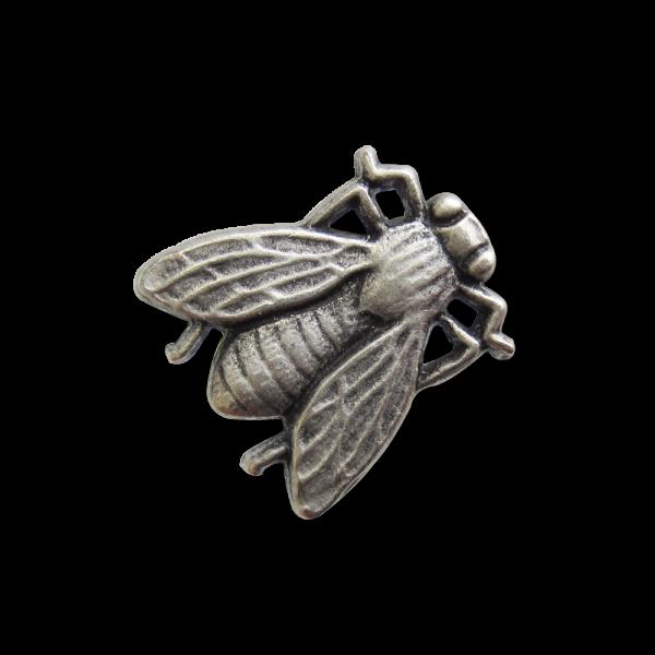 Detaillierte Fliege als Knopf