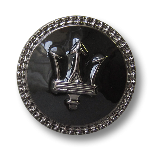 www.knopfparadies.de - 5750ch - Kunststoffknöpfe mit maritimen Motiv: Dreizack des Poseidon