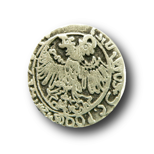 Metallknopf fast wie alte Silbermünze