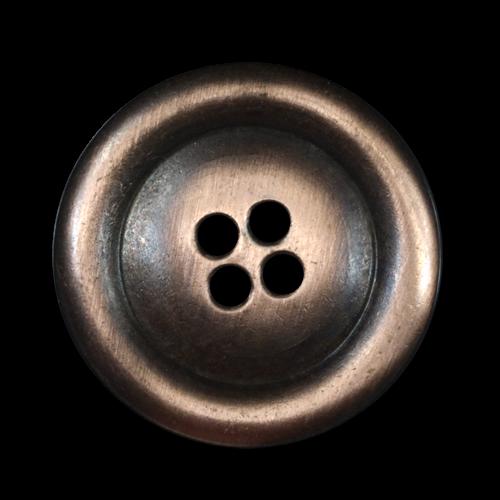 Extrem großer altkupferfarbener Metallknopf