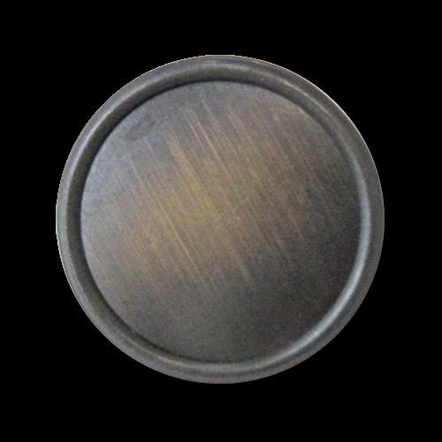 www.knopfparadies.de - 3245em - Altmessingfarbene Metallblechknöpfe