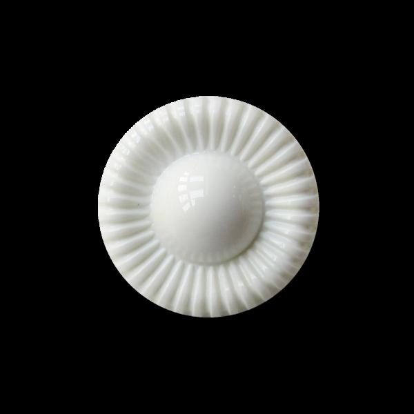 Kleiner nostalgischer weißer Ösen Blusen Knopf