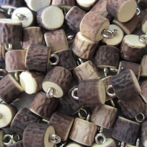 Knopfparadies - Ösenknöpfe aus Kunststoff in Hirschhornoptik