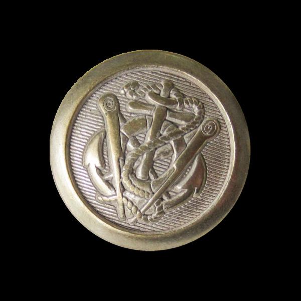 Anker Metall Ösen Knopf in Messing- und Silberfarben