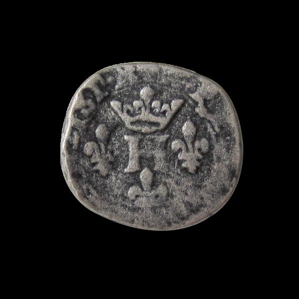 www.knopfparadies.de - 1192as - Metallknöpfe wie alte Münzen