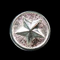 Kleiner silberfarbener Metallknopf mit Stern