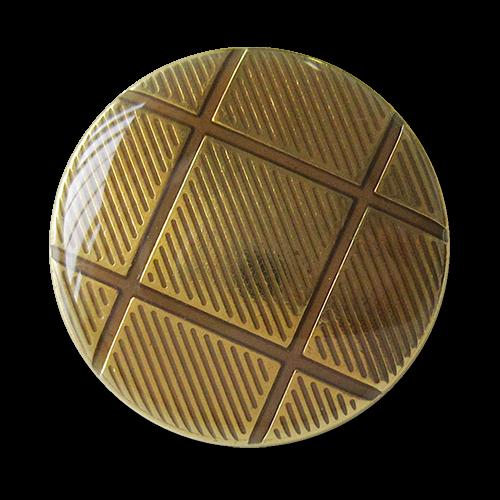 www.knopfparadies.de - 1617go - Metallknöpfe in gold mit grafischem Muster
