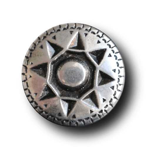 Silberfarbener Metallknopf