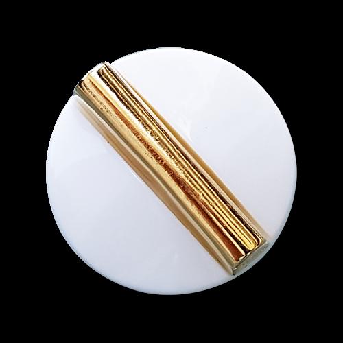 Edler weiß-goldfarbener Knopf