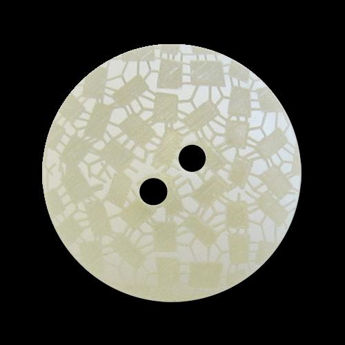 www.knopfparadies.de - 3747we - Hübsche Kunststoffknöpfe in transparent und weiss