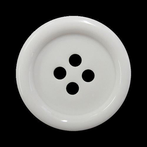 Super günstige, zeitlose Kunststoffknöpfe - ganz klassische, rein weiße Ersatzknöpfe in allen Größen