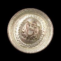 Kupfer-silberfarbener Wappenknopf aus Metall