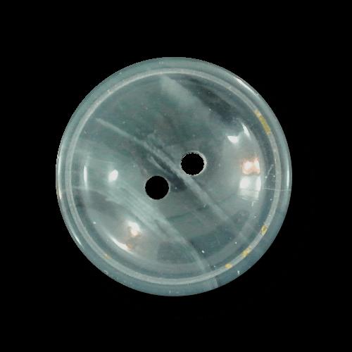 Schüsselförmiger blaugrau melierter Zweiloch Knopf