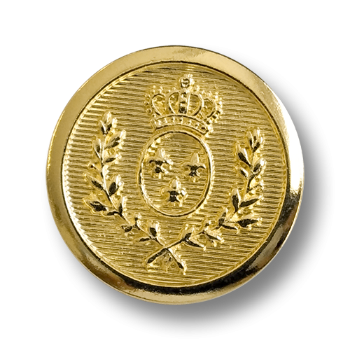 www.knopfparadies.de - 5254go - Goldfarbene Blazerknöpfe aus Metall