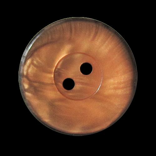www.knopfparadies.de - 3334os - Orange-schwarz eingefärbte Kunststoffknöpfe mit zwei Löchern