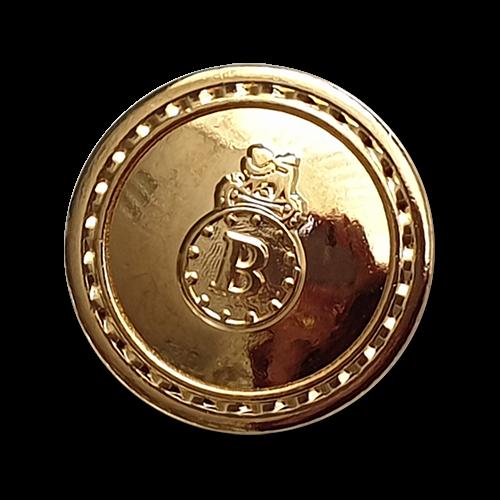 www.knopfparadies.de - 2664gg - Metallknöpfe, hochwertig verarbeitet in glänzend gold