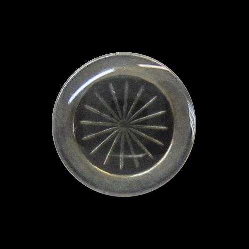 www.knopfparadies.de - 2635ch - Eisenfarbene Metallknöpfe mit Sonnenmotiv