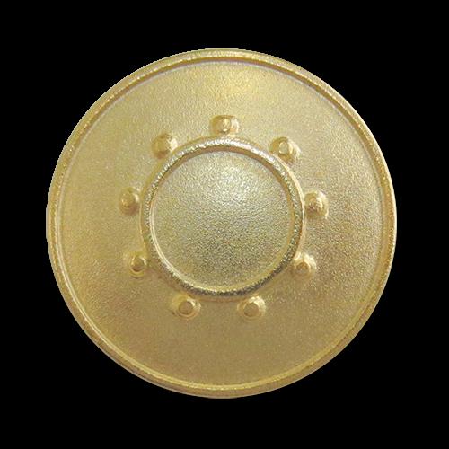www.Knopfparadies.de - 2276mg - Goldene Ösenknöpfe aus Metall mit Sonne oder Kreis