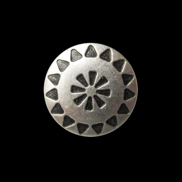 Hübscher kleiner Ösen Metall Knopf mit Ethno Muster
