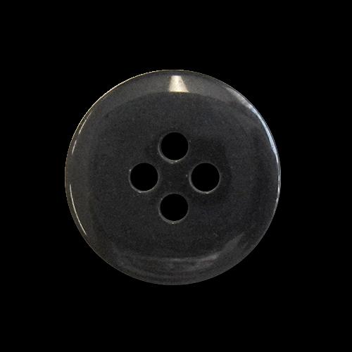 www.knopfparadies.de - 0528sc - Günstige, schwarz glänzende Kunststoffknöpfe mit vier Löchern
