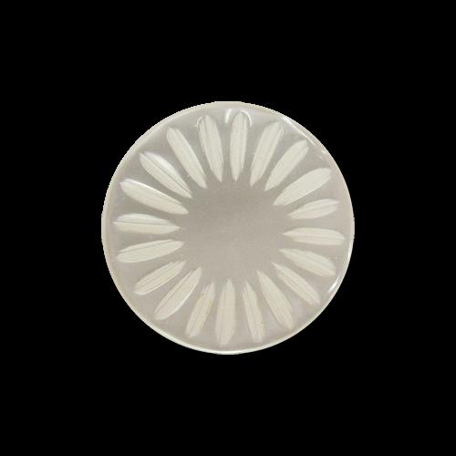 www.Knopfparadies.de - 5805pm - Süße kleine Kunststoffknöpfe in Perlmuttweiß