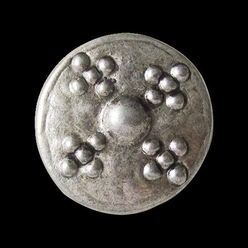 Große altsilberfarbene Metall Ösen Knöpfe wie aus dem Mittelalter
