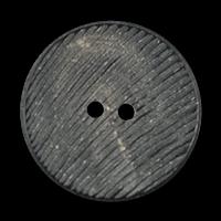 Geriffelter Knopf aus Büffelhorn