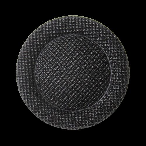 www.Knopfparadies.de - 3273sc - Elegante schwarze Kunststoffknöpfe in Posamentenoptik