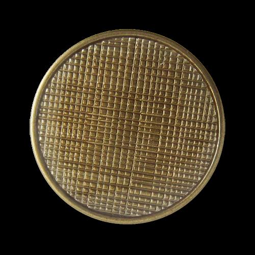 www.Knopfparadies.de - 1501me - Messingfarbene Metallknöpfe mit Netz Struktur