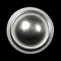 Alt wirkender silberfarbener Metall Knopf für Uniform