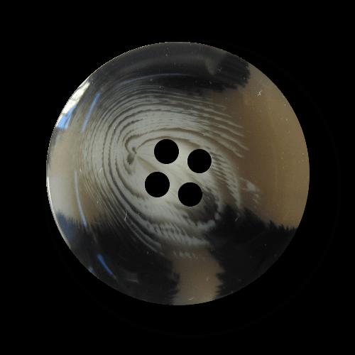 Klassischer großer grau schwarz weiß melierter Knopf