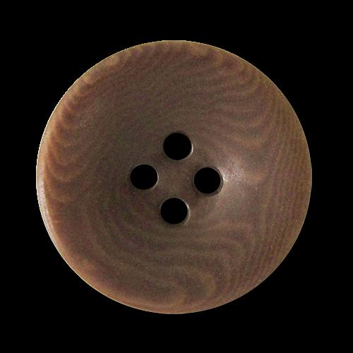 www.Knopfparadies.de - 5948br - Braun gemaserte Vierlochknöpfe aus echter Steinnuss