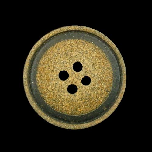 Uriger Vierloch Knopf in Kork oder Leder Vintage Optik