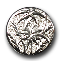 Silberfb. Metallknopf mit Papyrus