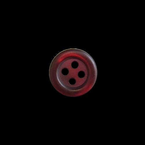 www.knopfparadies.de - 0400dr - Matt rote Blusenknöpfe mit vier Löchern