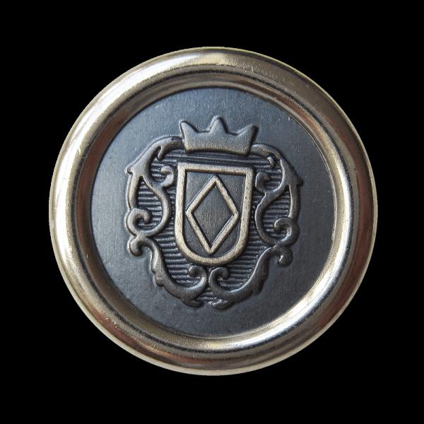 Exquisiter Wappen Knopf aus Metall z.B. für Blazer