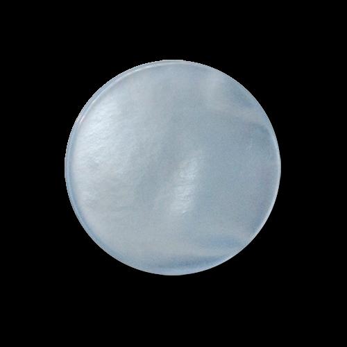 www.knopfparadies.de - 5747hb - Hellblaue Ösenknöpfe aus Kunststoff in Perlmuttoptik