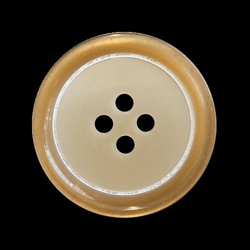 www.knopfparadies.de - 2221br - Hellbraune bis beige Vierlochknöpfe aus Kunststoff