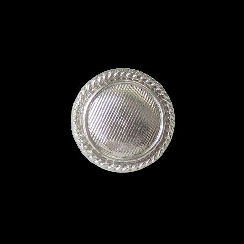 Günstigere kleine leichte silberne Ösen Kunststoffknöpfe in Metalloptik / B-WARE