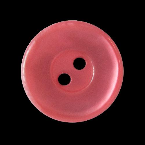 www.knopfparadies.de - 3334hi - Rosa schimmernde Kunststoffknöpfe