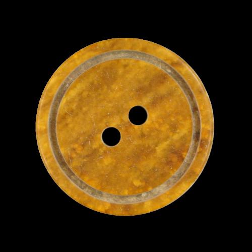 Rotbraun beige marmorierter Zweiloch Kunststoff Knopf