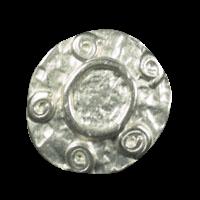 Weißlich silberfarbener Larp Knopf