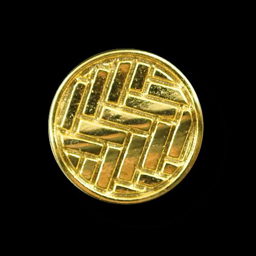 Kleiner goldfb. Metall Knopf mit Flecht Muster