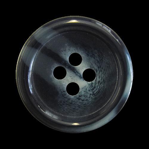www.knopfparadies.de - a260gb - dunkelblau-grau melierte Kunststoffknöpfe