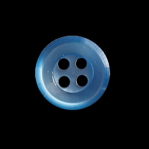 Perlmuttartig glänzende blaue 4-Loch-Blusennköpfe