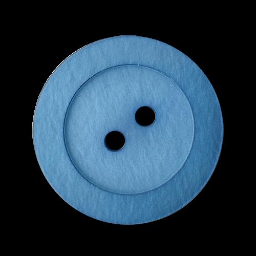 www.knopfparadies.de - 2912bl - Blau schimmernde Mantelknöpfe aus Kunststoff