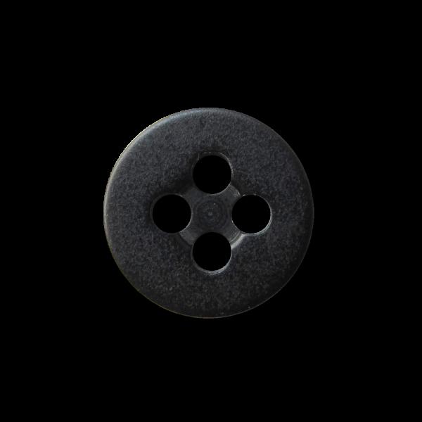 Klassischer schwarzer Blusen Hemden Vierloch Knopf