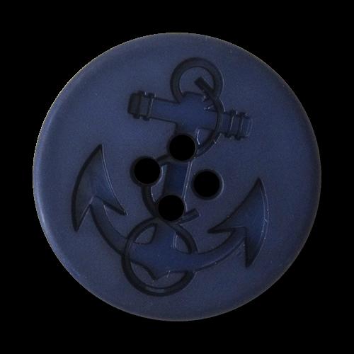 www.Knopfparadies.de - 5904bl - Blaue Ankerknöpfe aus Kunststoff